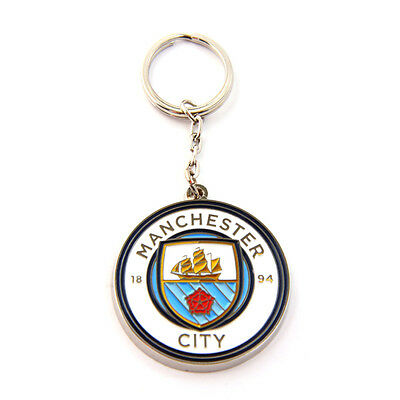 Official Licensed Football Product Manchester City Keyring Crest Fun Gift New