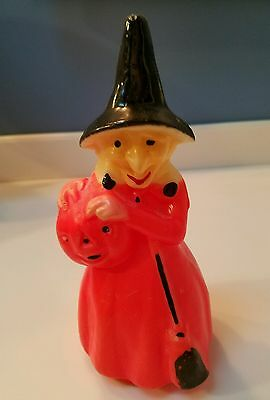 Vintage Halloween Witch Candle Decoration
