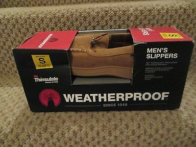Men's Weatherproof Thinsulate Memory Foam Slippers Small, UK 6/7, New & In Box