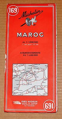 Africa: Morocco, Maroc Michelin Map 1969 Very Detailed
