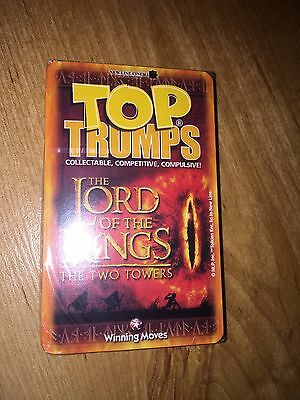 Lord of the Rings The Two Towers Top Trumps Card Game ~ New & Sealed