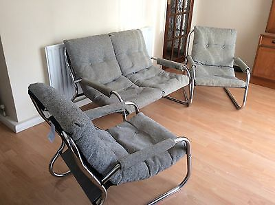 3 piece suite - 2 seater sofa and 2 armchairs