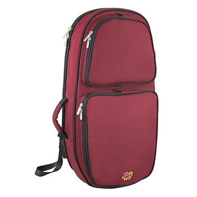 Tom and Will 26BH Padded Baritone Horn Bag - Burgundy
