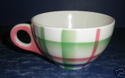 Syracuse China Plaid Thistle Coffee Cup- Excellent Condition