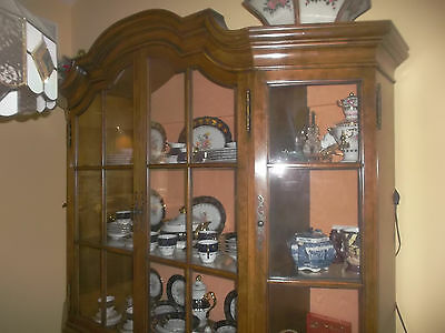 Antique Style Vintage 4 Door Dome Top Bookcase, Display Cabinet or Showcase
