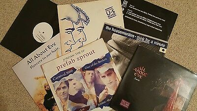 Job Lot 7 x 12 inch vinyl singles inc Wham U2 Primal Scream Housemartins