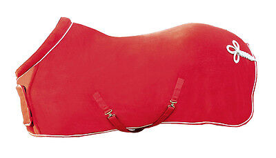 Hkm Red Double Bonded Show Fleece Rug With Collar