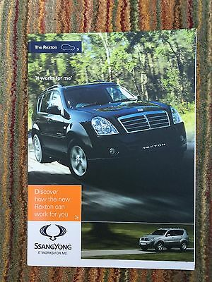 SSANGYONG Rexton UK Sales Brochure
