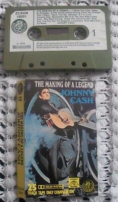 Johnny Cash,the Making Of A Legend,lp,cassette Tape,country,indie,25 Tracks,sun