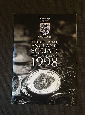 England 1998 Medal Collection inc The Final Five