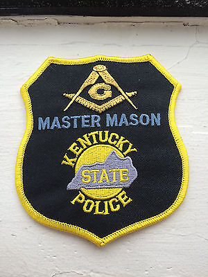 Kentucky State Police Master Mason Patch.