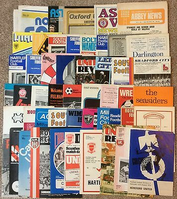 50 x 1970s programmes (no duplicates, various clubs)