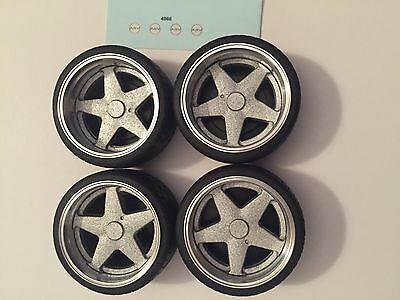 1/18 scale modified REAL ALUMINIUM  AZEV WHEELS