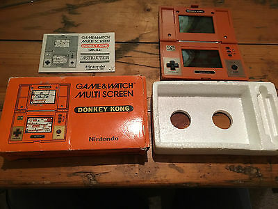 Boxed Nintendo Game And Watch Donkey Kong Dk-52 1982 Very Good Working Condition