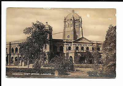 Lahore - General Post Office - Real Photo - Old Postcard - India