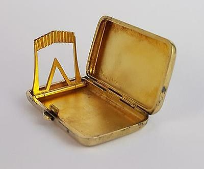 Antique FRENCH SILVER GILT MATCH / MARKER CASE c1900