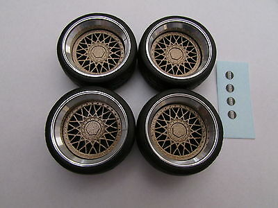 1/18 scale modified REAL ALUMINIUM BBS WHEELS