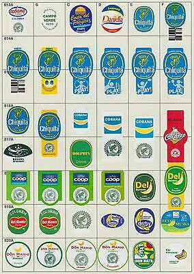 (189) 38 Different Banana Labels Stickers Still Unused In Original Backing Paper