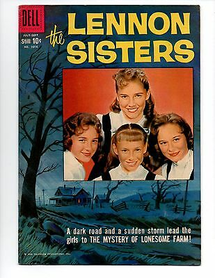 """Four Color #1014 (Jul-Sep 1959, Dell) FN 6.0 """"THE LENNON SISTERS (TV); PHOTO-C"""""""