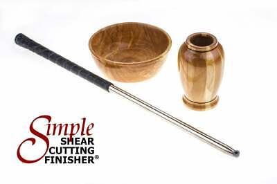 Full Size Simple Shear Cutting Finisher Wood Lathe Tool with Golf Grip handle