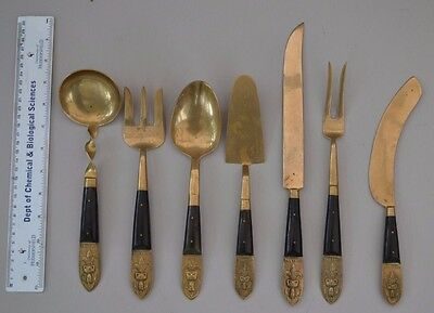 Vintage Thailand Starbronze Large Cooking & Serving Utensils X 7~Super Quality