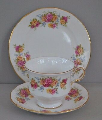 Vintage Royal Vale Tea Trio~Teacup Saucer Side-Plate~Roses