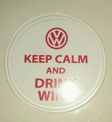 Vw keep calm and drink wine tax disc holder