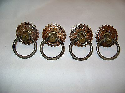 4 Antique Drawer Pulls for Spool Cabinet