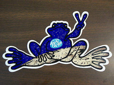 Peace Frogs Moon & Earth Sticker
