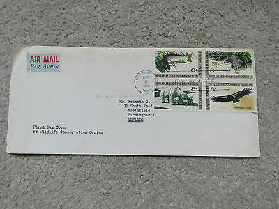 Vintage 1971 US Wildlife Conservation Series - Air Mail First Day Issue 4 stamps