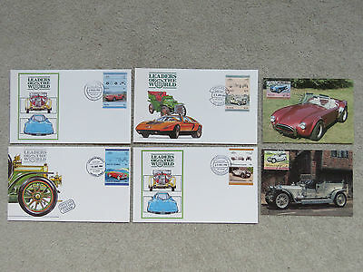 6x Vintage 1984-86 Leaders of the World Classic Car Covers (2 PCs) - Caribbean