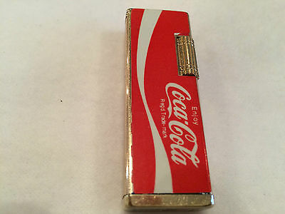 Vintage Coca Cola Lighter Cigarette Cigar Large Coke Swoosh