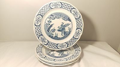 "Furnivals Old Chelsea Set Of Four 8 1/4"" Salad Plates"