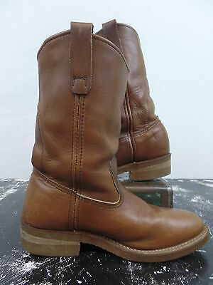 Redwing Brown Leather Western Boots Mens 6D Womens 8D USA Made