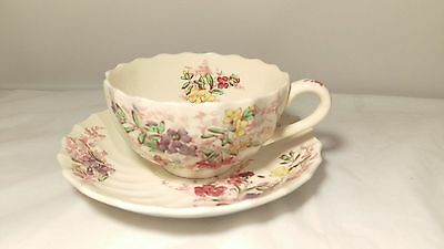 Copeland Spode Fairy Dell 2 / 8093 Cup and Saucer Set (s) in Excellent Condition