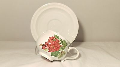 Portmeirion Pomona Romantic Shape Cup and Saucer Red Currant Design