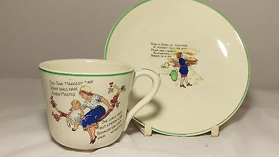Adams Cup and Saucer Set Child's Nursery Rhyme