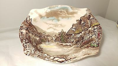 """Johnson Brothers ENGLAND Olde English Countryside Rimmed Oval Vegetable Bowl 9"""""""