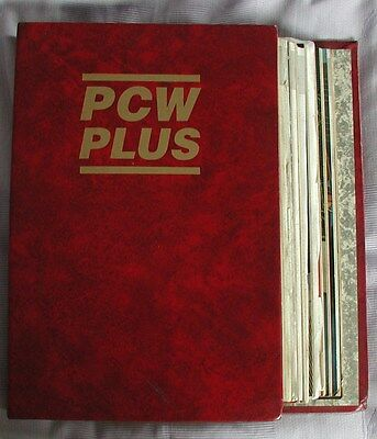 PCW Plus binder & magazines Jan 1992-Dec 1992.