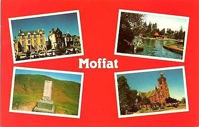 Moffat - Dumfries and Galloway - Scotland - Multiview - Postcard 1988