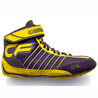 Cage Fighter Revolution Combat Pro 1 Wrestling Shoes - Yellow Sz 4.0