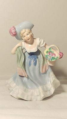 "Erphila Golden Crown 6578 Girl with Basket 6 3/4"" Tall"