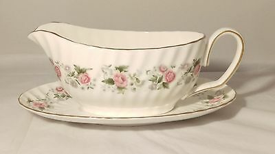 Minton Spring Bouquet Gravy Boat and Under Plate