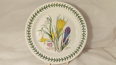 "Portmeirion Botanic Garden 7 1/4"" Snowdrop & Crocus Bread and Butter Plate"