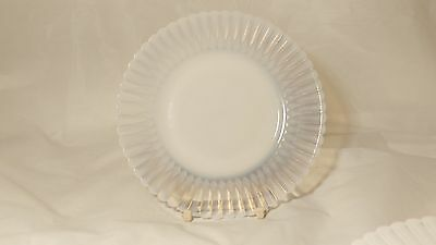 "Macbeth Evans Glass Petalware Monax 6 1/4"" Bread and Butter Plate (s) With Rings"