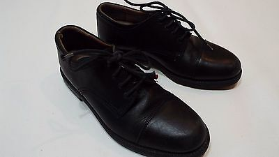 Men Leather Black casual shoes Dockers size 8M  free ship