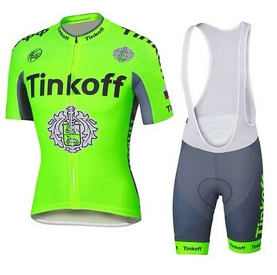 NEW TEAM TINKOFF SAXO Short Sleeve Cycling Jersey With Bib Shorts