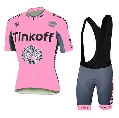 NEW Women's TEAM TINKOFF SAXO Short Sleeve Cycling Jersey With Bib Shorts