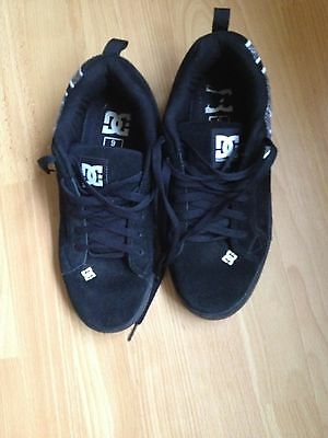 Mens Black Suede Casual Shoes/Trainers Size 8 (42)