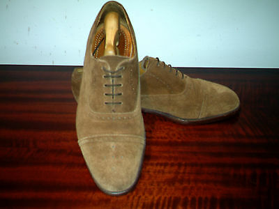 Mens LOAKE (OBAN) Suede Brown Lace-up Brogues UK 9.5.(44).